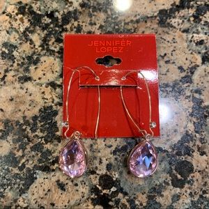 Jennifer Lopez Pink Drop Earrings
